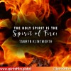 The holy spirit is the spirit of fire